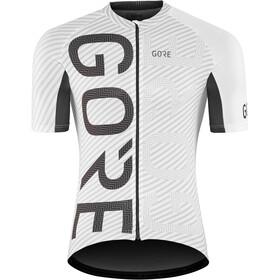 GORE WEAR C3 Brand Koszulka rowerowa z zamkiem błyskawicznym Mężczyźni, white/black